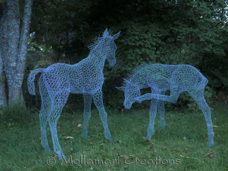 Mollamari Creations - Wire horses